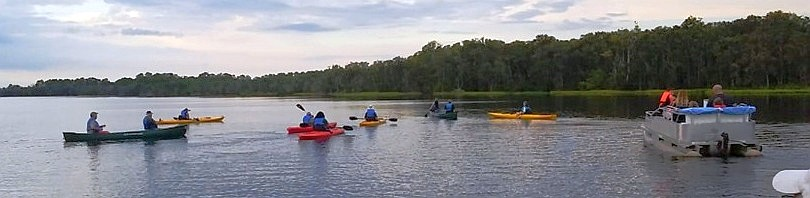 Assortment of Boats taking part in an Outing on Buck Lake