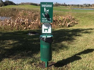 One of the Pet Waste Stations positioned throughout the Community