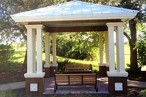 Gazebo located in the Linear Park along Cat Brier Trail